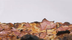 Close-up of a delicious supreme pizza rotating Stock Footage