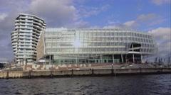 Modern Hafen City Hamburg area - stock footage