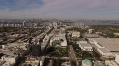 Aerial Miami Beach Florida - stock footage