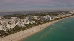 Aerial Miami Beach Florida Stock Footage