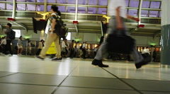 Rush hour in Shinagawa Station Stock Footage