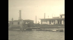 Vintage 16mm film, 1934, Ontario, Kawartha Lakes cottages and shore Stock Footage