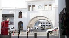 Bab Al- Bahrain Souk Gate,  Manama Souk. Stock Footage