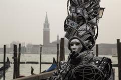Venetian Carnivale Costume Kuvituskuvat