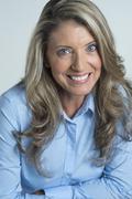 Caucasian woman smiling Stock Photos