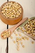 organic soya beans - stock photo