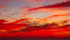 Extremely beautiful and vibrant sunset with clouds in Zagreb, Croatia, 4k Stock Footage