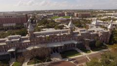 Aerial The University of Tampa Florida Stock Footage