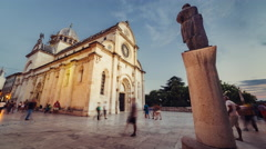 15th Century Sibenik Cathedral has been a UNESCO World Heritage Site since 2000. Stock Footage