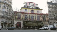 General view Bataclan Theatre Paris Stock Footage