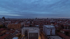 Time lapse of a sunrise during winter over the city of Zagreb in Croatia Stock Footage