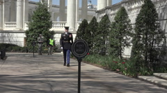 Arlington National Cemetery Change of Guard arrives HD Stock Footage