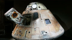 Apollo 14 Capsule Close Up, 4K Stock Footage