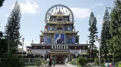 Huge buddhism monastery Stock Footage