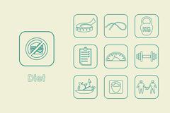 Stock Illustration of Set of diet simple icons