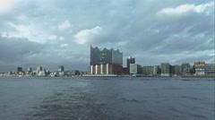 Great Hamburg skyline with Elbphilharmonie Stock Footage