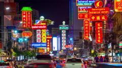 Bangkok Chinatown Stock Footage