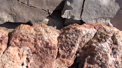 Crystals of calcite on rock Stock Footage