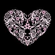 Heart openwork Stock Illustration