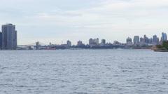 Brooklyn Bridge from Liberty Park Stock Footage