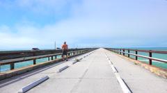Time lapse. Seven Miles bridge. Stock Footage