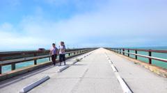Seven Miles bridge. Florida Keys Stock Footage