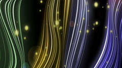 Colored lines, exploding with gold particles Stock Footage