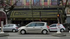 Slow motion People tribute Bataclan Theatre Paris Stock Footage