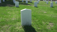 Spotsylvania Confederate Cemetery unknown soldier grave HD Stock Footage