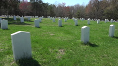 Spotsylvania Confederate Cemetery unknown soldiers HD Stock Footage