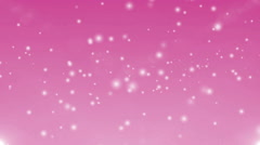 7 pack clean pink background with particles. Looped Stock Footage