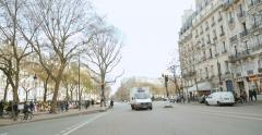 Panning over  50 Boulevard Voltaire with bataclan Theater Stock Footage