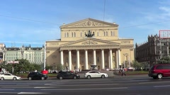 Big (Bolshoy) theatre, Moscow Stock Footage