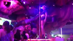 Gogo Dancers on Bangla Road Nightlife, Phuket - stock footage