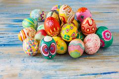 Set of colorful easter egg Stock Photos