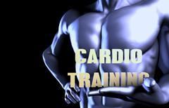 Cardio training Stock Illustration