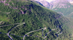 Gaularfjellet, Norwegian scenic mountain road Stock Footage