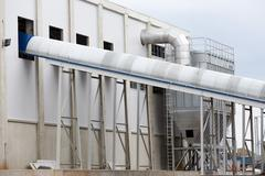 Waste plant outside process storage methane oil organic Stock Photos