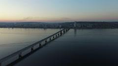 Flying over the bridge Stock Footage
