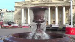 Fountain near Big (Bolshoy) theatre, Moscow Stock Footage