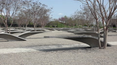 Pentagon Memorial 911 monument seats Washington DC HD 012 Arkistovideo