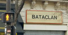 Stop red light  green light Bataclan Theatre Paris Stock Footage