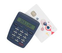 Card reader for reading a bank card - stock photo