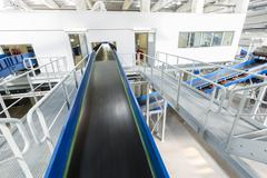 Biomass waste plant conveyer - stock photo
