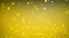 Gold particles abstract background Stock Footage