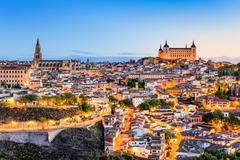 Toledo, Spain old town city skyline. Kuvituskuvat