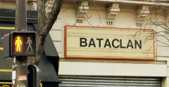 Stop red light  Bataclan Theatre Paris Stock Footage