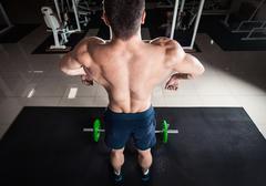 Comic formidable bodybuilder Stock Photos