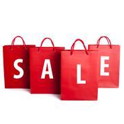 Sale shopping bag set - stock photo