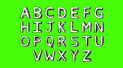 Stock Video Footage of alphabet - Green Screen - Text white 0